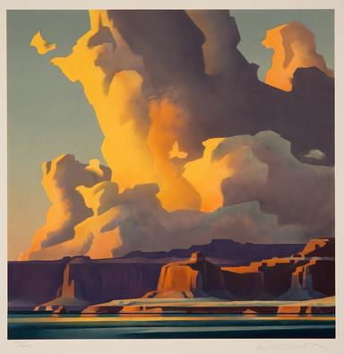 Ed Mell, Towering Clouds, Lake Powell, 1990