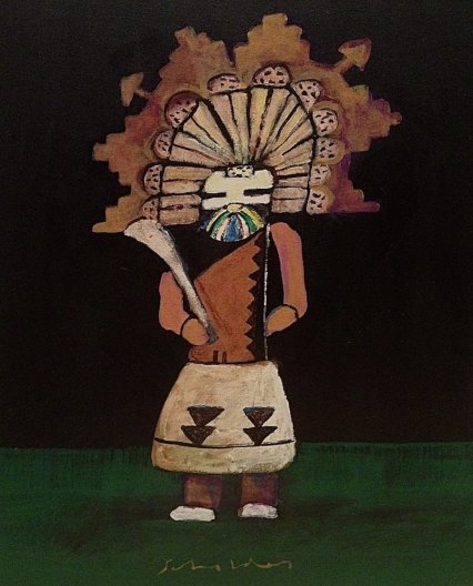 Fritz Scholder, Kachina with Hunting Stick, 2004