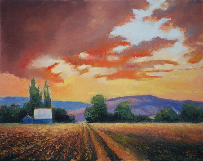<span class=%22title%22>Sunset at the Farm</span>