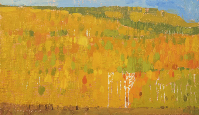 Autumn Patchwork with White Trunks, Study