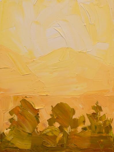 Jivan Lee, Illuminated Ridges 2- Yellow