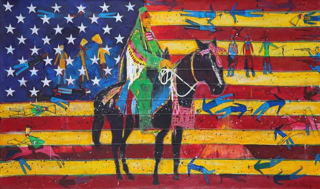 American Flag Big Horn