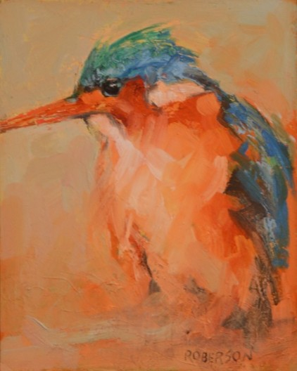 Young Malachite Kingfisher