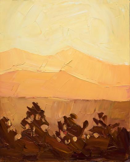 Jivan Lee, Illuminated Ridges 1- Orange