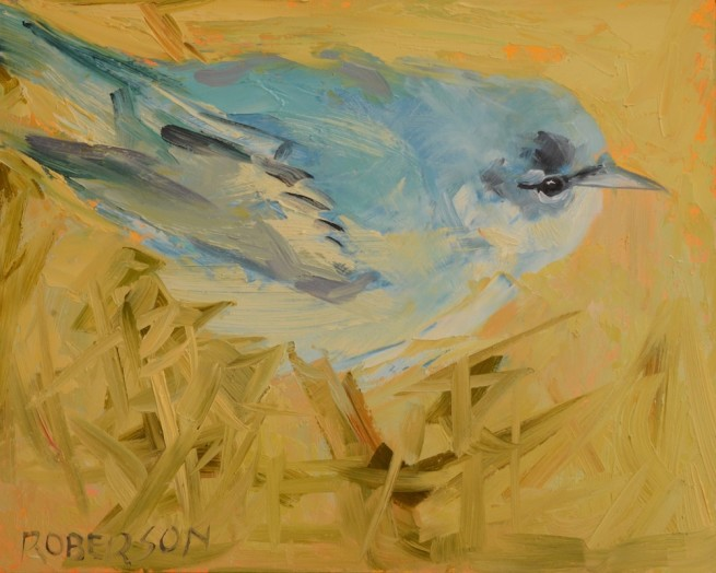 Mary Roberson, Cerulean Warbler Ready for Take Off