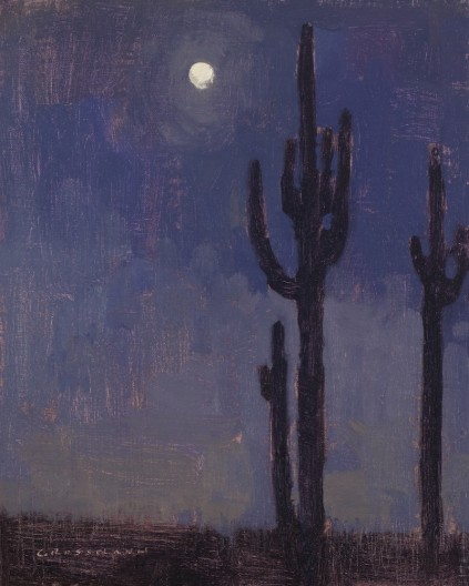 Moon with Saguaro