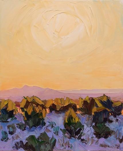 Jivan Lee, Santa Fe Overlook #5, Low Sun Falling