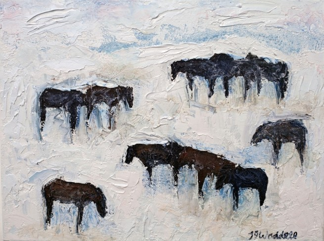Theodore Waddell, Winter Horses #5