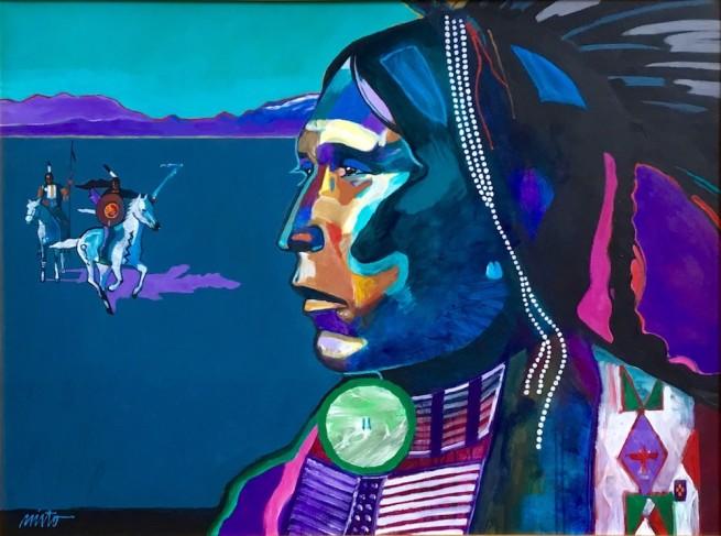 John Nieto, Kiowa Apache Reliving Past Glories