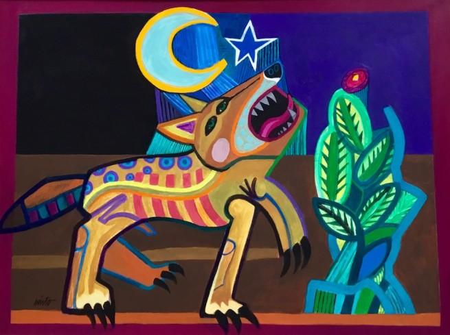 John Nieto, Coyote in the Moonlight