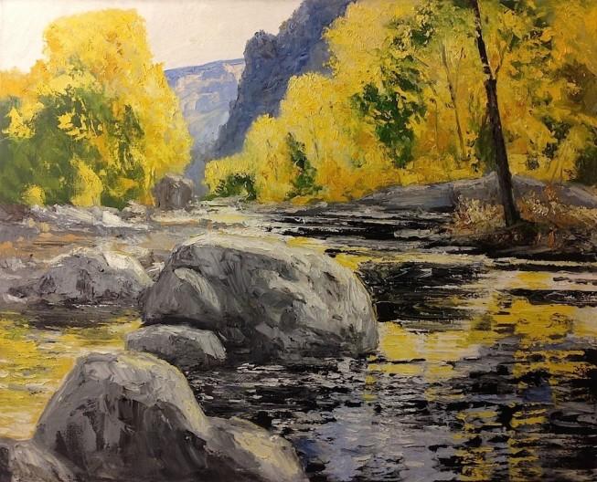 James Pringle Cook, Sabino Canyon - Autumn #3