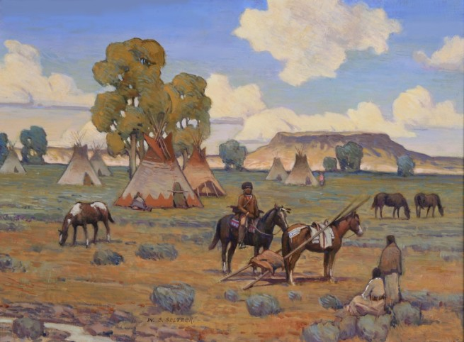 W. Steve Seltzer, Camp at Square Butte