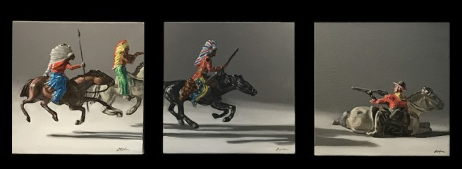 Brad Overton, Gimme Shelter (Triptych)