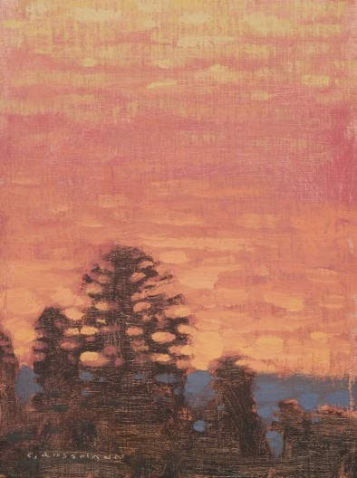 David Grossmann, Glowing Sky with Trees
