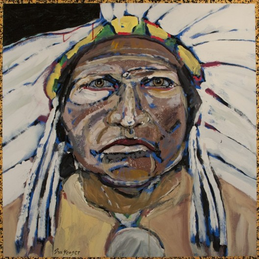 Ira Yeager, Indian Portrait #14124