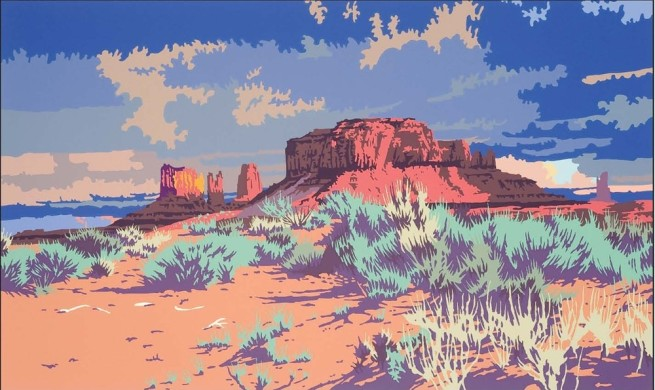 Serigraphs by Billy Schenck, Land of the Dineh, AP, 1991