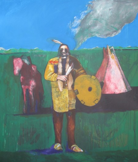Fritz Scholder, Indian in Oklahoma, 2003