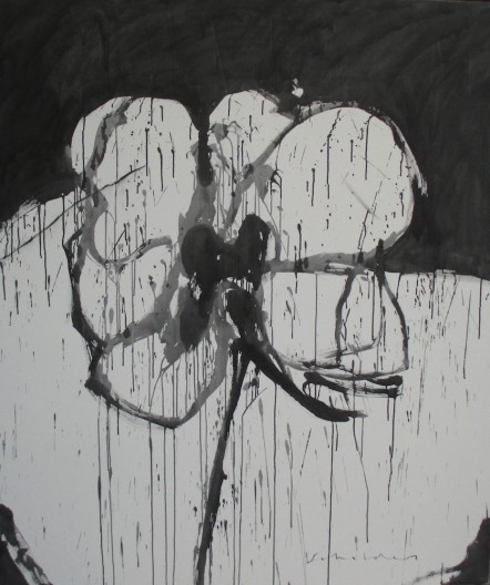 Fritz Scholder, Black and White Flower, 2003