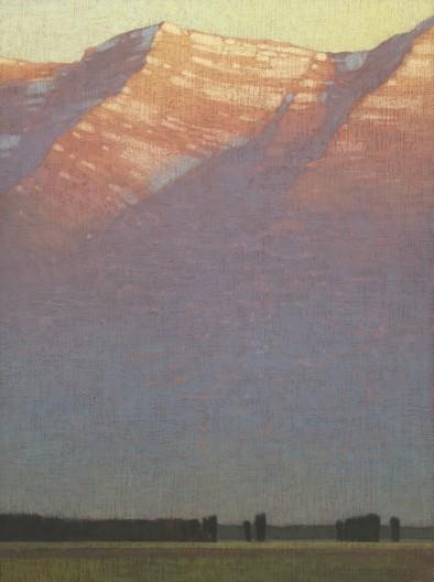 David Grossmann, Morning Light Above the Valley