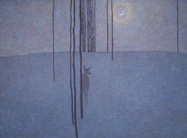 David Grossmann, Winter Night with Deer