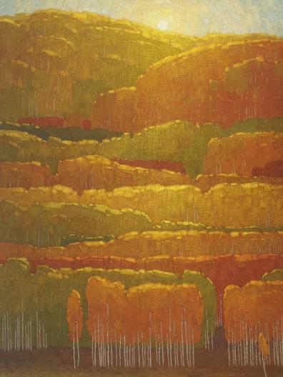 David Grossmann, Morning Autumn Sun Near Kebler Pass