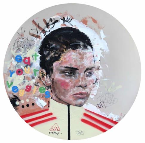 Preston Paperboy, Eat Your Veggies - Original artwork, 2017