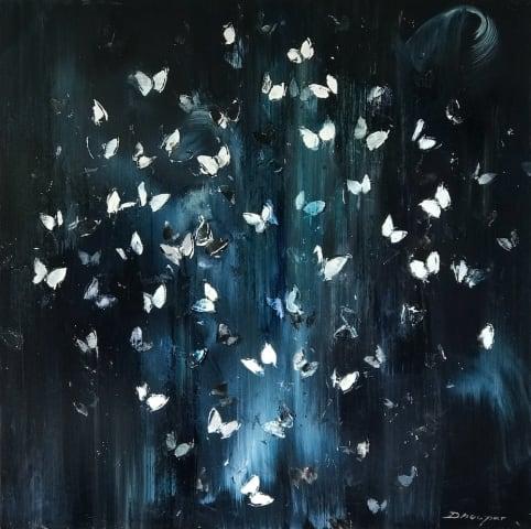 Daniel Hooper, Flutter by Night, White, 2019