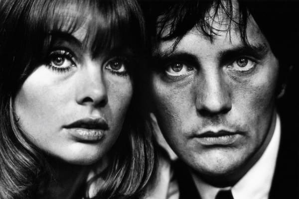 Terry O'Neill, Jean Shrimpton and Terence Stamp, 1963