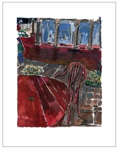 Bob Dylan, Sidewalk Café (medium format), 2013