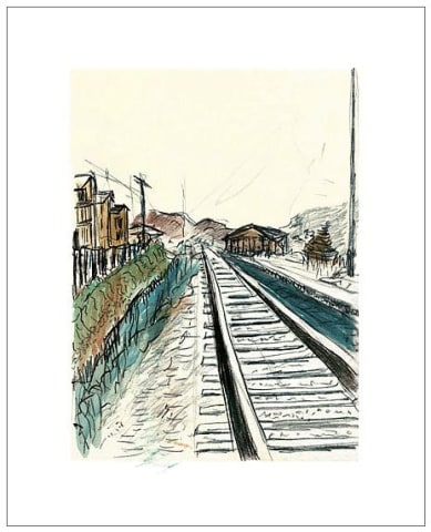 Bob Dylan, Train Tracks (white) , 2008 - CALL FOR PRICE