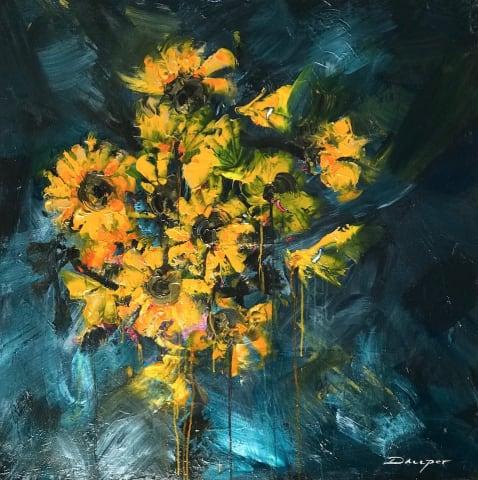Daniel Hooper, Sunflowers, 2019