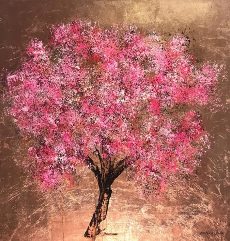 Daniel Hooper, Blossom (Copper leaf), 2018