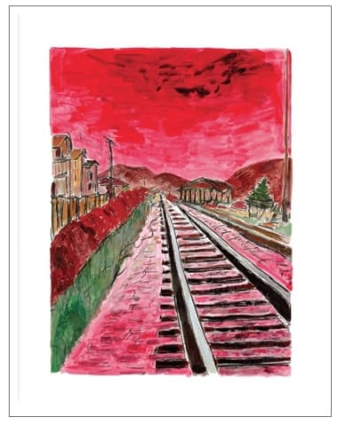 Bob Dylan, Train Tracks (medium format), 2014