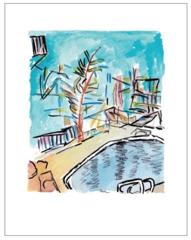 Bob Dylan, Motel Pool (medium format), 2013