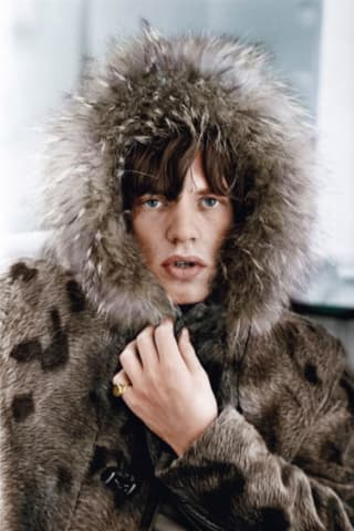 Terry O'Neill, Mick's Parka, colourised