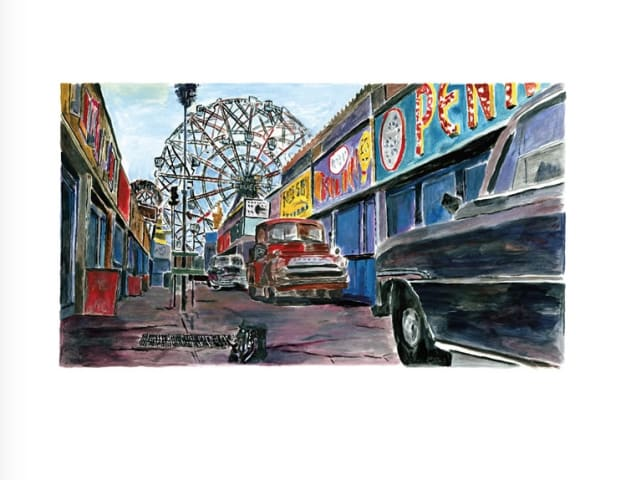 Bob Dylan, Amusement Park Alleyway, 2016
