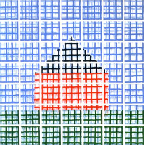 Jennifer Bartlett, House: Large Grid, 1998