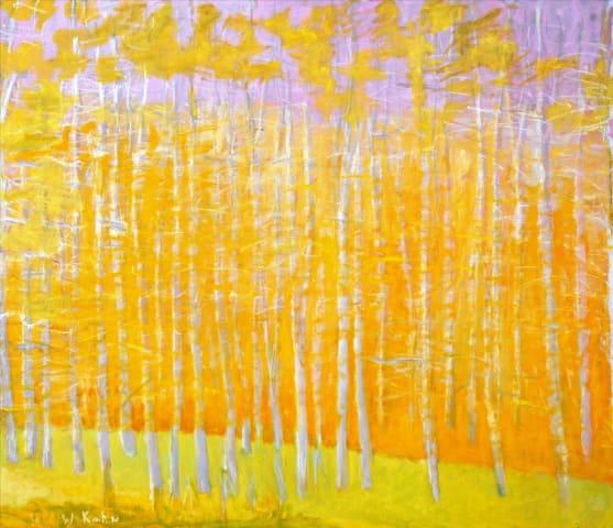 Wolf Kahn, Yellow/Orange, 2008