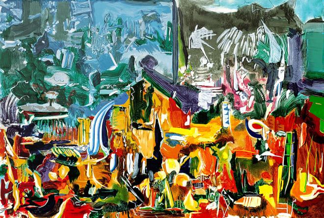 Larry Dinkin, Landscape of Dark Festivals, 1999