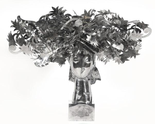 Manolo Valdés, Ada Cabeza con Flores Plateadas, 2010