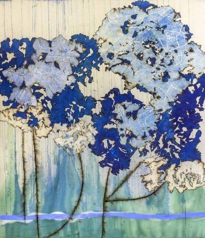 Mira Lehr, Blue Peonies, 2019