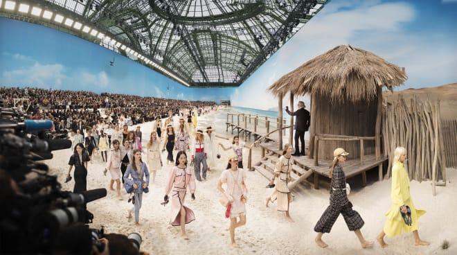 Simon Procter, Chanel Beach, Spring/Summer 2019, Le Grand Palais, Paris