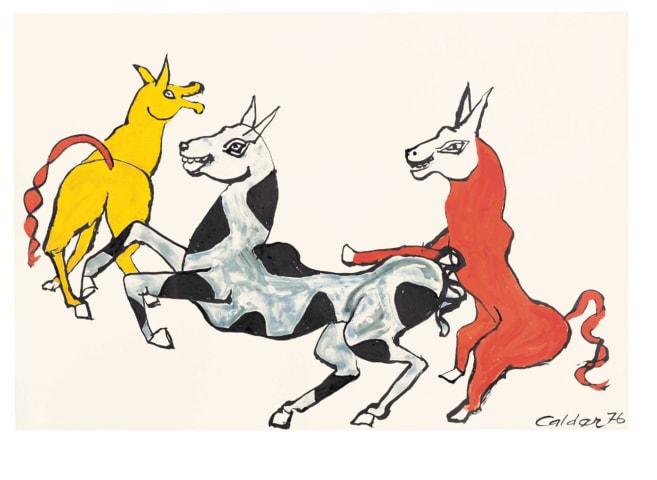 Alexander Calder, Rire jaune, 1976