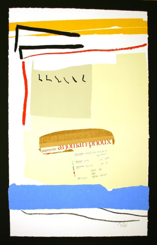 Robert Motherwell, America- La France Variations III, 1984