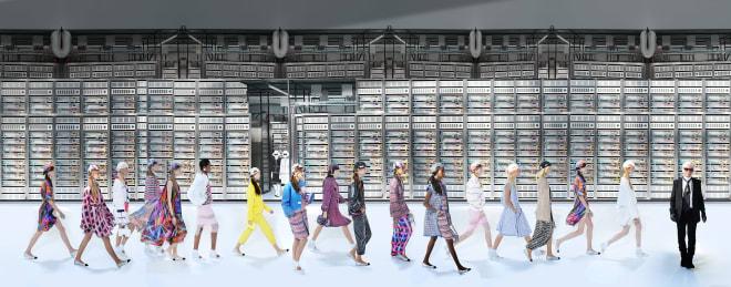 Simon Procter, Chanel Machine, Spring Summer 2017, Le Grand Palais, Paris