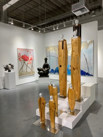 Works by Manolo Valdés, Mira Lehr, Baltasar Lobo and Oriano Galloni in Summer Selections.