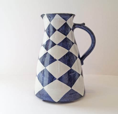 Tydd Pottery , Jug - Checkerboard, Tall , 2019
