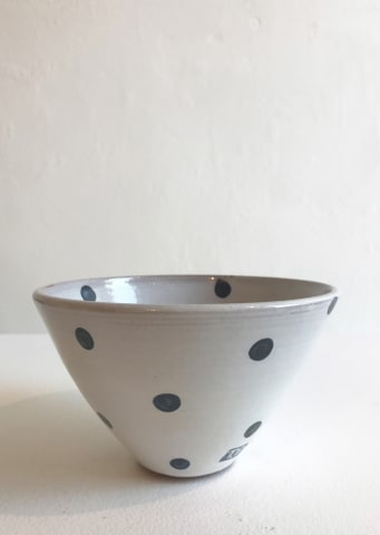 Tydd Pottery, Blue Spots on White, Small Bowl