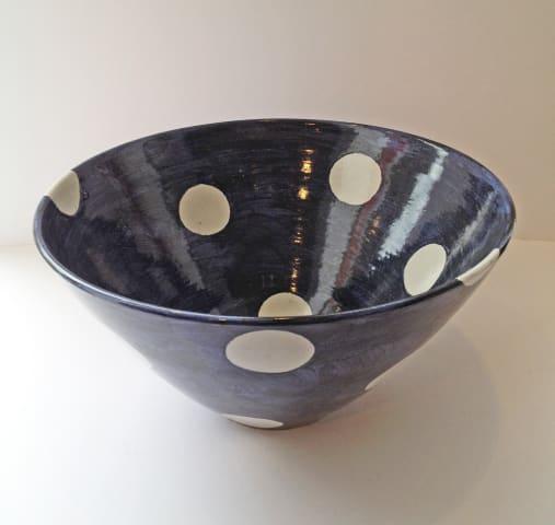 Tydd Pottery , Bowl - Large Spots, 2019