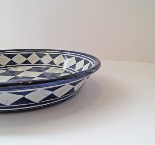Tydd Pottery, Platter - Small Checkerboard, 2019
